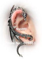 Wholesale Dragon Ear Cuff Alchemy Gothic Stud Wrap Dragon s Lure Ancient Silver Hot Earring AL604