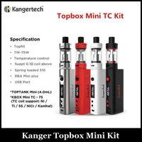 Auténtico Kang Topbox Mini Starter Kit 4 ml Top Llenado del depósito de 75w Kit Kit Mod Box VS Subox Mini Nano Kit Joytech Evic VTC