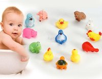 best animes - Christmas gifts FreeShip Squeeze sounding Animals swimming dabbling Bath Water Toys no harm to children best gift for baby