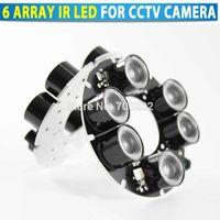 Livraison gratuite vidéosurveillance 6 Array Conseil infrarouge LED IR pour caméra de sécurité CCTV