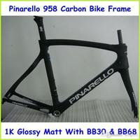 carbon frame bike - Pina F Eight Team Sky Carbon Bike Frame k Full Carbon Road Bicycle Frame Black Color CM Frame Glossy Matte