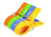 Wholesale F04720 Mix Color Big Plastic Windproof Clothes hanging Peg Beddable Quilt Sheet Clip Racks Clip FS
