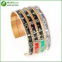 Wholesale BC Rose Gold Itilian Speedometer stainless steel watch style bracelet Jewelry BC