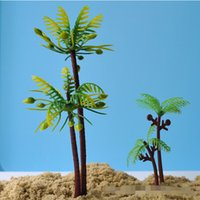 Wholesale DHL Free sets Coconut tree ornaments sandbox model scenarios accessories for Sand beach sand colored sand children beach toys