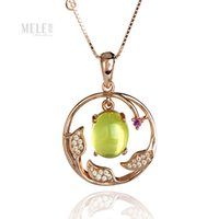 australian gemstone - Natural Australian grape Pendant silver rose gold plated fashion simple classic
