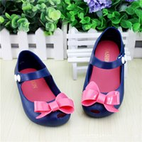 Wholesale Fashion Cute Cat Cow Bowtie Princess Baby Jelly Shoes Toddler Boy Girl Summer Soft Sole Sandals Shoes EUR