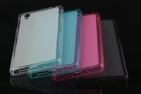 al por mayor xperia z1 estuche blando-Matte Pudding gelatina suave TPU gel de la contraportada caso para Sony Xperia Z1 Z2 Z3 Z4 Mini Z5 premium C4 C5 M5