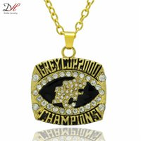 bc lions - Hot Selling Fashion Sport Jewelry BC Lions Grey Cup Football Championship Necklace Gold Plated Alloy Necklaces For Men