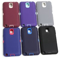 Wholesale Hybrid heavy duty rugged soft defender case cover clip for samsung galaxy note N9000 phone case