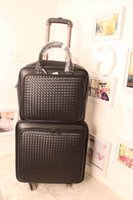Wholesale 2015 new fashion Real photographs Men and women GE leather travel case standard board chassis black brown