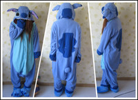 Wholesale Hot New Arrival Fashion Anime Unisex Adult Animal Pajamas Pink Blue Lilo Stitch Onesie Cosplay Costume Sleepwear All Size