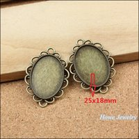 antique metal picture frames - Vintage Charms Oval picture frame Pendant Antique bronze Fit Bracelets Necklace DIY Metal Jewelry MakingJewelry making