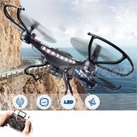 Bon Marché Lcd moniteur d'affichage vidéo-2,015 mode Headless JJRC H8D 2.4Ghz One Key retour 5.8G FPV RC Quadcopter Drone 2MP caméra FPV moniteur LCD Display RTF