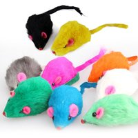 Wholesale 1Pcs New Lovely Bright Colourful Little Funny Mouse Toys For Pets Cat Mouse Toy
