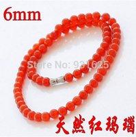 amazing jewelery - NEW Fashion Amazing mm Red Agate natural Onyx Beads necklace Beautiful Woman s Jewelery inch
