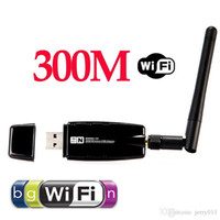 al por mayor adaptador de red inalámbrica externa-Mini 300Mbps Wireless USB Wi-Fi WiFi Wi-Fi adaptador de red 2.4GHz ISM con antena externa de redes 802.11n / g / b