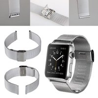 Wholesale Milanese loop watch band stainless steel mesh wraps for Apple Watch magnetic closure clasp bracelet strap mm mm iwatch band