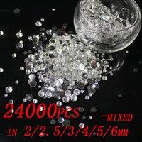 Wholesale 24000pcs flatback DIY Resin rhinestones Many colors mixed sizes mm mm mm mm mm mm