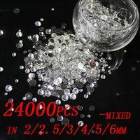 Wholesale 24000pcs mixed sizes mm mm mm mm mm mm Resin rhinestones flatback
