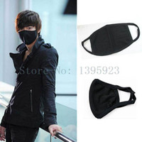 Wholesale 5pcs Black Activated Carbon Cotton Surgical Windproof Anti Dust Men Face Mask For Bicycle Biker Walking In Winter Autumn