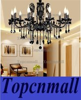 Wholesale China chandelier light modern ceiling chandeliers modern black glass chandelier living room beautiful crystal chandeliers with black crystal