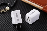 Cheap Original 5V 2.4A 2 Port USB Charger NOHON Phone Power Adapter USA Canada Micro USB Wall Mobile Charger For iPhone 5 6 6s iPad Smart Phones