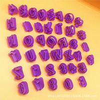 alphabet design fonts - 40PCS SET Fondant Cake Decoration Tools wilton same design Font Alphabet Cutter number Letter cookie Biscuit cutter set Birthday