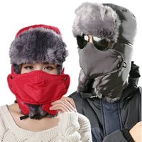 Wholesale 2014 High Quality Thicken Winter Hat For Man Solid Hats Russian Hat Sport Outdoor Ear Mask Bomber Caps For Woman Bone And Gorro
