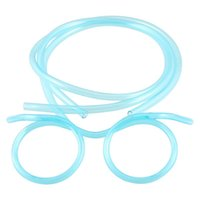 Wholesale IMC Clear Blue Plastic Drinking Straw Glasses Eyeglasses for Children order lt no track