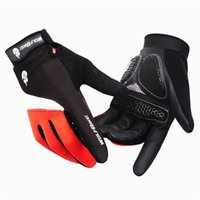 Men gloves - New Long Winter Cycling Gloves Road Mountain Bike Windproof Antiskid Full Finger Gloves Bicycle Gloves Mittens BST