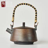 antique stoneware - Stoneware handmade antique pot teapot teapot hand side of the embryo quality firewood teapot tea pot special offer
