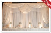 banquet tables decorations - 3 m Wedding Decoration Backdrop With Swags Wedding Banquet Background Curtain Backdrop