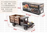 Wholesale Wooden toys wooden vintage car model toy car inch car decoration gifts Truck