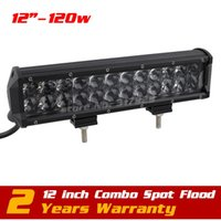Wholesale 12inch w Lens Led Bar Light Spot Combo12v v Tractor ATV Offroad Fog Light LED Worklight External Light VS W W W