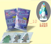 Wholesale 5000PCS LJJH1012 Paper Christmas tree flowering tree magic toys magic paper paper sculpture Stereoscopic artificial snow tree flowering tree