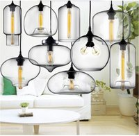 lamp shade - Hot Sale Modern Glass Pendant Lights Hanging Lamps Glass Shade Spray Painting For Ceiling Lights Lamp Glass With Edison Bulb AC110V V