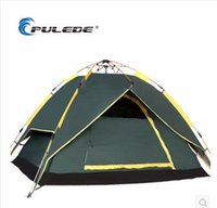 Wholesale PRO NEW High quality fully Automatic Folding Double layer Fiberglass Outdoor Camping Person tent