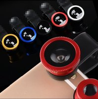 Wholesale Universal Fisheye Fish Eye in1 Clip Lens Glass Wide Angle cfor ipphone Samsung S6 Edge Universal Phone Lens