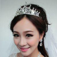 Wholesale The bride tiara crown hair accessories Korean wedding jewelry crown princess wedding dress wedding accessories