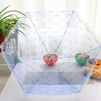 Wholesale Food Covers Umbrella Shape Diameter cm Picnic Barbecue Party Sports Fly Mosquito Net Tent Table Food Cover