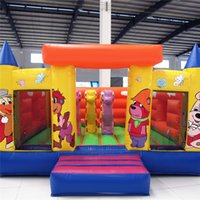 amusement equipment - AOQI amusement park equipment cheap price outdoor cartoon figure printing giant inflatable jumping castle for kids for sale made in China