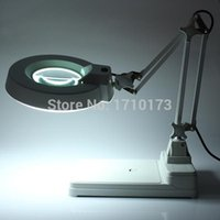 Wholesale Brand New High Quality Desktop Magnifier Lamp Electronic Magnifying Glass V W EMS DHL