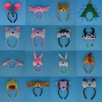 apricot chicken - 3D Animal Cattle Dog Dalmatian Chicken Ear Headband Halloween Party Pig Giraffe Tiger Dog Monkey Headbands