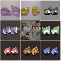 Wholesale of Mixed Colors French cut Lead Crystal Faceted mm inch Clear Chandeliers Crystal Beads