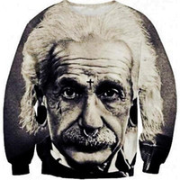 Cheap New Women Men Fashion casual clothes Einstein print Pullover 3D sports Sweatshirts Hoodies sports suit sweats clothes Tops