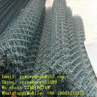 Wholesale Dark Geen mm mm Chain Link Fence Rolls With m Wide and m Length Used In Residential Area
