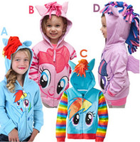 Wholesale Fashion Children outerwear My little pony Sweater hoodies sportswear boys girls Cartoon Hooded coat clothes baby hoody jacket