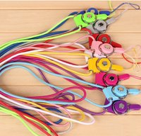 id card neck lanyard - New Arrival Candy Colors Cell Phone Lanyard Neck Straps with Detachable Clips for Mobil Phone ID Card Business Card Student Card MP3 MP4