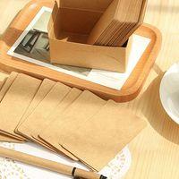 Wholesale 100 Kraft paper Black card DIY Vintage message card for congratulation Thanks Gift invitation bookmarks