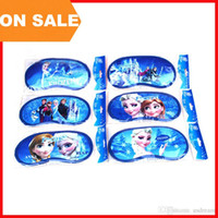 Wholesale On Sale FROZEN Eyes Mask Sleep masks Anna Elsa Nap Cover Blindfold Children Sleeping Eye Shade Sponge goggles student Vision Care